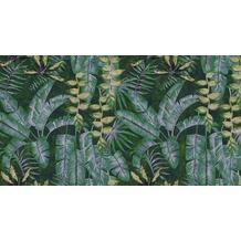 Livingwalls Fototapete Walls by Patel Dschungeltapete Tropicana gelb grün Vliestapete glatt 5,00 m x 2,70 m