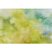 Livingwalls Fototapete Walls by Patel Aquarell Tapete Watercolours gelb grün türkis Vliestapete glatt 4,00 m x 2,70 m