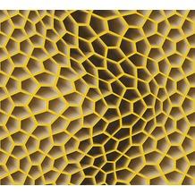 Livingwalls futuristische 3D Tapete Harmony in Motion by Mac Stopa beige braun gelb 327095 10,05 m x 0,53 m