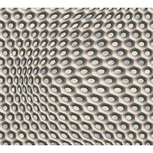Livingwalls futuristische 3D Tapete Harmony in Motion by Mac Stopa beige creme metallic 327073 10,05 m x 0,53 m