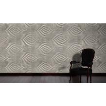 Livingwalls futuristische 3D Tapete Harmony in Motion by Mac Stopa Tapete beige creme metallic 10,05 m x 0,53 m