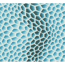 Livingwalls futuristische 3D Tapete Harmony in Motion by Mac Stopa Tapete blau grau weiß 327092 10,05 m x 0,53 m