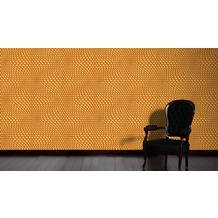 Livingwalls futuristische 3D Tapete Harmony in Motion by Mac Stopa Tapete grau metallic orange 10,05 m x 0,53 m