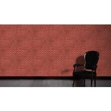 Livingwalls futuristische 3D Tapete Harmony in Motion by Mac Stopa Tapete grau metallic rot 10,05 m x 0,53 m