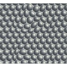 Livingwalls futuristische 3D Tapete Harmony in Motion by Mac Stopa grau metallic schwarz 327203 10,05 m x 0,53 m