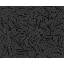 Livingwalls Mustertapete Black & White 3, Vliestapete, metallic, schwarz 132062 10,05 m x 0,53 m
