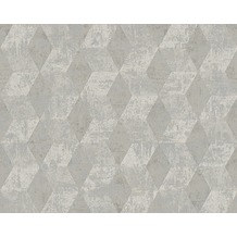 Livingwalls Mustertapete in 3D-Optik Titanium Tapete grau metallic 306542 10,05 m x 0,53 m
