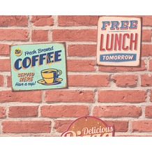 "Livingwalls selbstklebendes Panel ""Pop.up Panel 3D"", beige, braun, creme 955681 2,50 m x 0,52 m"