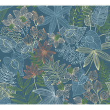 Livingwalls selbstklebendes Panel Pop.up Panel 3D blau grün orange 368291 2,50 m x 0,52 m