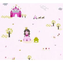 Livingwalls selbstklebendes Panel Pop.up Panel 3D rosa pink grün 368321 2,50 m x 0,52 m