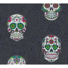 Livingwalls selbstklebendes Panel Pop.up Panel 3D schwarz weiß bunt 368281 2,50 m x 0,52 m