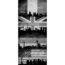 "Livingwalls selbstklebendes Panel ""Pop.up Panel"", beige, grau, schwarz 942492 2,50 m x 0,35 m"