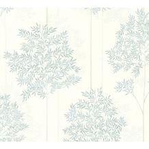 Livingwalls Vliestapete Colibri Tapete floral weiß grau blau 366261 10,05 m x 0,53 m