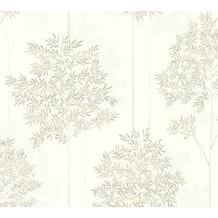 Livingwalls Vliestapete Colibri Tapete floral weiß grau braun 366263 10,05 m x 0,53 m