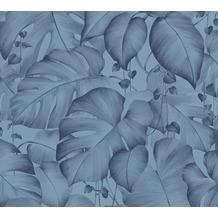 Livingwalls Vliestapete Colibri Tapete in Dschungel Optik blau 366271 10,05 m x 0,53 m