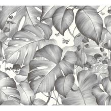 Livingwalls Vliestapete Colibri Tapete in Dschungel Optik schwarz weiß 366252 10,05 m x 0,53 m