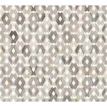 Livingwalls Vliestapete Colibri Tapete in Retro Optik grafisch grau beige braun 362883 10,05 m x 0,53 m