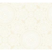 Livingwalls Vliestapete Cozz Ökotapete im Ethno Look creme beige weiß 362952 10,05 m x 0,53 m