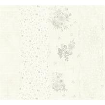 Livingwalls Vliestapete Djooz 2 Tapete creme grau metallic 358784 10,05 m x 0,53 m