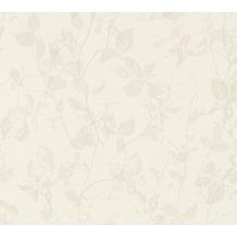 Livingwalls Vliestapete Hygge Tapete floral beige creme grau 363974 10,05 m x 0,53 m