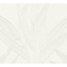 Livingwalls Vliestapete Hygge Tapete floral beige weiß 361234