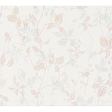 Livingwalls Vliestapete Hygge Tapete floral creme grau rosa 363973 10,05 m x 0,53 m