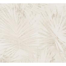 Livingwalls Vliestapete Hygge Tapete mit Palmenprint in Dschungel Optik beige creme 363852 10,05 m x 0,53 m