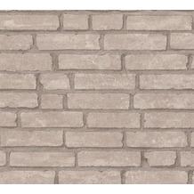 Livingwalls Vliestapete Industrial Tapete in Backstein Optik grau beige 377473 10,05 m x 0,53 m