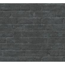 Livingwalls Vliestapete Industrial Tapete in Backstein Optik grau schwarz anthrazit 377475 10,05 m x 0,53 m