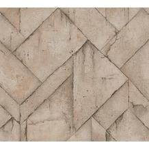 Livingwalls Vliestapete Industrial Tapete in Betonoptik beige braun grau 377416 10,05 m x 0,53 m