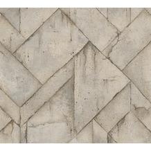 Livingwalls Vliestapete Industrial Tapete in Betonoptik beige braun grau 377414 10,05 m x 0,53 m