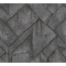 Livingwalls Vliestapete Industrial Tapete in Betonoptik grau anthrazit schwarz 377412 10,05 m x 0,53 m