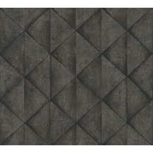 Livingwalls Vliestapete Industrial Tapete in Betonoptik grau schwarz anthrazit 377425 10,05 m x 0,53 m