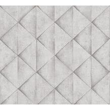 Livingwalls Vliestapete Industrial Tapete in Betonoptik grau weiß 377422 10,05 m x 0,53 m