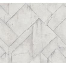 Livingwalls Vliestapete Industrial Tapete in Betonoptik grau weiß 377415 10,05 m x 0,53 m