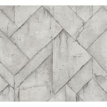 Livingwalls Vliestapete Industrial Tapete in Betonoptik grau weiß anthrazit 377413 10,05 m x 0,53 m