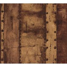 Livingwalls Vliestapete Industrial Tapete in Vintage Optik braun orange orange 377433 10,05 m x 0,53 m