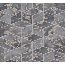 Livingwalls Vliestapete Metropolitan Stories 3D Tapete in Marmor Optik Alena St. Petersburg grau metallic schwarz 378633 10,05 m x 0,53 m