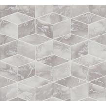 Livingwalls Vliestapete Metropolitan Stories 3D Tapete in Marmor Optik Alena St. Petersburg grau metallic weiß 378631 10,05 m x 0,53 m