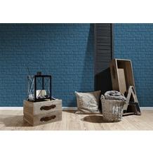 Livingwalls Vliestapete Metropolitan Stories Anke & Daan Amsterdam Tapete in Vintage Backstein Optik blau 10,05 m x 0,53 m