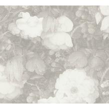 Livingwalls Vliestapete Metropolitan Stories Anke & Daan Amsterdam floral grau weiß 369214 10,05 m x 0,53 m