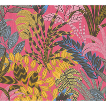 Livingwalls Vliestapete Metropolitan Stories Dschungeltapete Nala Cape Town braun gelb rosa 378602 10,05 m x 0,53 m