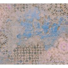 Livingwalls Vliestapete Metropolitan Stories Fliesentapete Antonio Barcelona beige blau braun 378581 10,05 m x 0,53 m