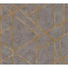 Livingwalls Vliestapete Metropolitan Stories Francesca Milano Tapete grau metallic 369281 10,05 m x 0,53 m