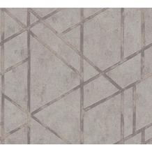 Livingwalls Vliestapete Metropolitan Stories Francesca Milano grau metallic 369282 10,05 m x 0,53 m