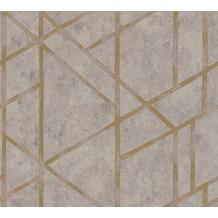 Livingwalls Vliestapete Metropolitan Stories Francesca Milano beige grau metallic 369283 10,05 m x 0,53 m