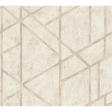 Livingwalls Vliestapete Metropolitan Stories Francesca Milano Tapete geometrisch creme 369284 10,05 m x 0,53 m