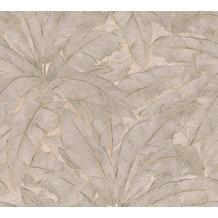 Livingwalls Vliestapete Metropolitan Stories Francesca Milano beige grau metallic 369275 10,05 m x 0,53 m