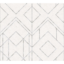 Livingwalls Vliestapete Metropolitan Stories geometrische Tapete Ava New York grau metallic weiß 378691 10,05 m x 0,53 m