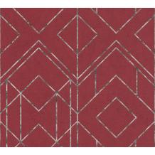 Livingwalls Vliestapete Metropolitan Stories geometrische Tapete Ava New York metallic rot schwarz 378692 10,05 m x 0,53 m